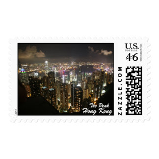 Hong Kong Night Scene, The Peak, Postage Stamp