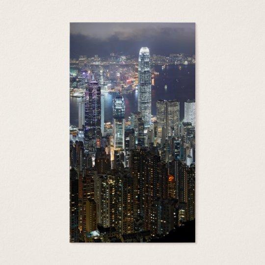Hong Kong Night Skyline Business Card