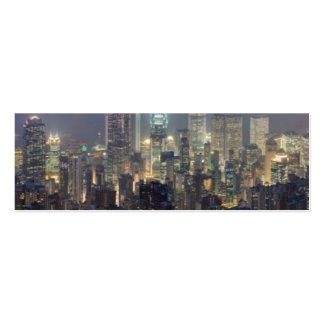 Hong Kong Night Skyline from Victoria Peak Business Card