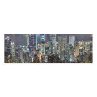 Hong Kong Night Skyline from Victoria Peak Business Card Templates