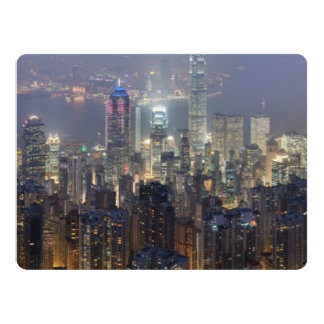 Hong Kong Night Skyline from Victoria Peak Card