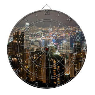 Hong Kong Night Skyline from Victoria Peak Dartboards