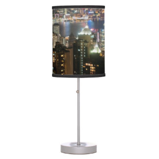 Hong Kong Night Skyline from Victoria Peak Table Lamps