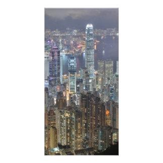 Hong Kong Night Skyline from Victoria Peak Photo Card