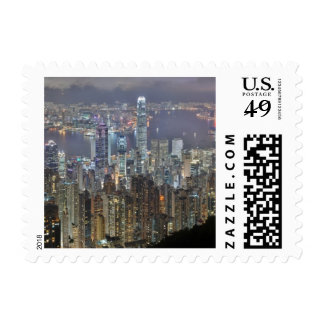Hong Kong Night Skyline from Victoria Peak Postage