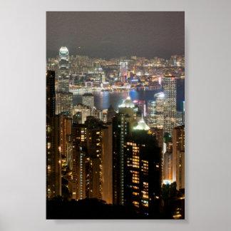 Hong Kong Night Skyline from Victoria Peak Poster