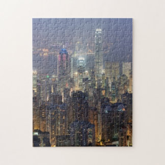 Hong Kong Night Skyline from Victoria Peak Jigsaw Puzzles