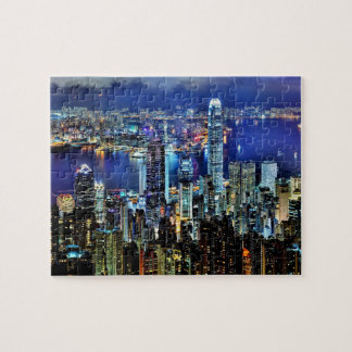 Hong Kong night skyline Jigsaw Puzzle