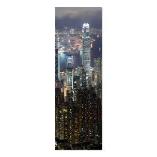 Hong Kong Night Skyline Mini Business Card