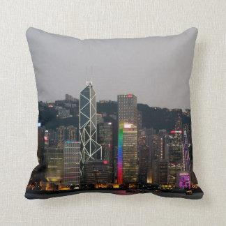 Hong Kong Night Throw Pillow