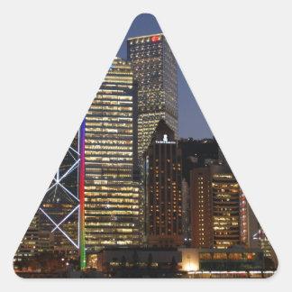Hong Kong Night Triangle Sticker
