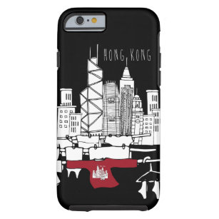 Hong Kong Old x New scenery Tough iPhone 6 Case