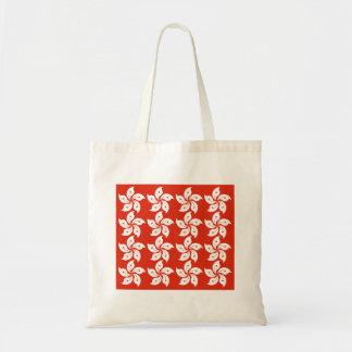 Hong Kong Orchid Flag Pattern Tote Bag