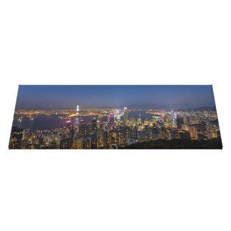 Hong Kong Panoramic Skyline Premium Canvas Canvas Print