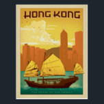 "Hong Kong | Pearl of the Orient Postcard<br><div class=""desc"">Anderson Design Group is an award-winning illustration and design firm in Nashville,  Tennessee. Founder Joel Anderson directs a team of talented artists to create original poster art that looks like classic vintage advertising prints from the 1920s to the 1960s.</div>"