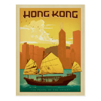 Hong Kong | Pearl of the Orient Postcard