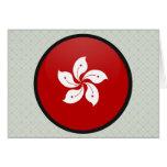 Hong Kong quality Flag Circle Greeting Card