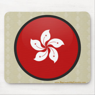 Hong Kong quality Flag Circle Mousepad