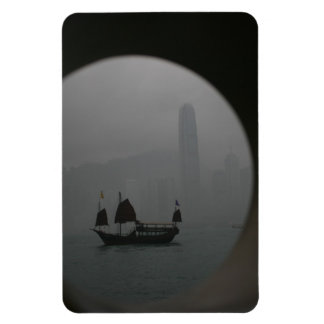 Hong Kong Rectangular Photo Magnet