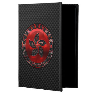 Hong Kong Red Steel Seal on Carbon Fiber Print iPad Air Cover