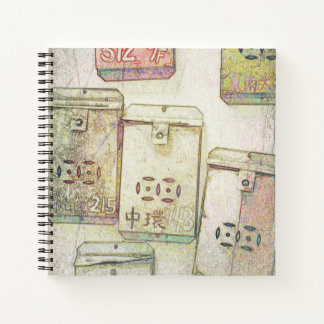 Hong Kong Retro: Metal Mailboxes Notebook