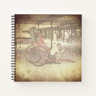Hong Kong Retro: Rickshaw Driver Notebook