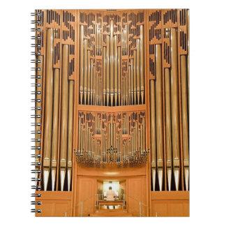 Hong Kong Rieger organ notepad Spiral Notebook