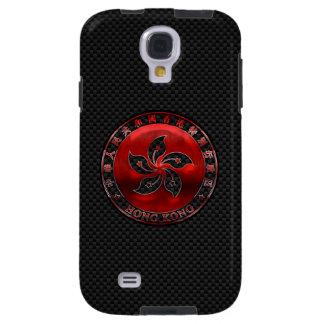 Hong Kong Ruby Seal on Carbon Fiber Print Galaxy S4 Case