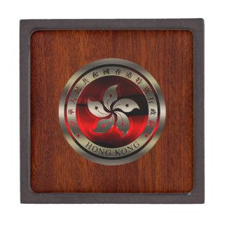 Hong Kong Ruby Seal on Mahogany Print Keepsake Box