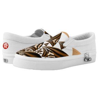 Hong Kong sailboat Zipz Slip On Shoes-US Women Printed Shoes