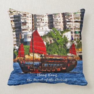 Hong Kong Sampan la perla del Oriente Almohadas