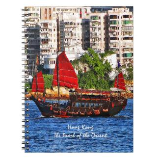 Hong Kong Sampan la perla del Oriente Libro De Apuntes