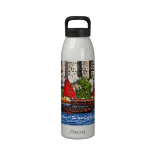 Hong Kong Sampan The Pearl of the Orient Reusable Water Bottles