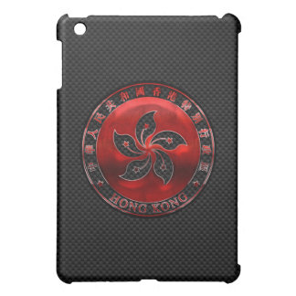 Hong Kong Seal on Carbon Fiber Print iPad Mini Case