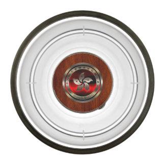 Hong Kong Seal on Mahogany Print Pet Bowl