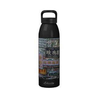 Hong Kong Signs Water Bottle