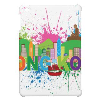 Hong Kong Skyline Abstract Color Illustratioon iPad Mini Cover