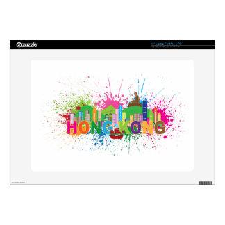 Hong Kong Skyline Abstract Color Illustratioon Laptop Skin