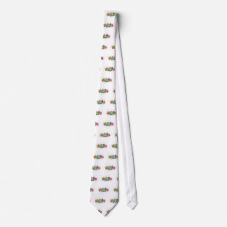 Hong Kong Skyline Abstract Color Illustratioon Neck Tie
