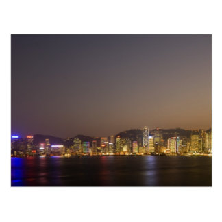 Hong Kong skyline at dusk Postcard