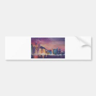 Hong Kong Skyline At Night Bumper Sticker