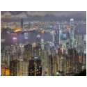 Hong Kong skyline at night Post Card postcard