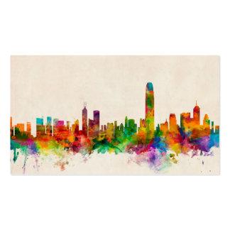 Hong Kong Skyline Cityscape Business Card