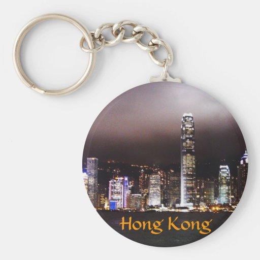 Hong Kong skyline keychain