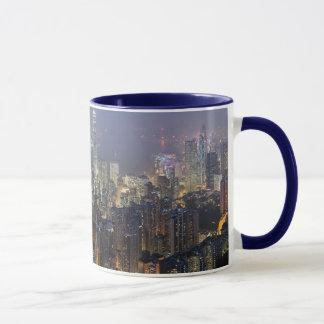 Hong Kong skyline mosquito Mug