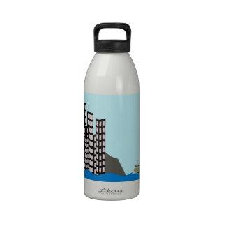 Hong Kong Skyline Reusable Water Bottles