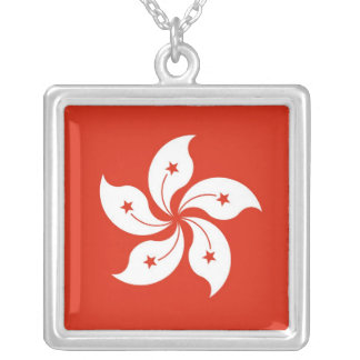 HONG KONG SQUARE PENDANT NECKLACE