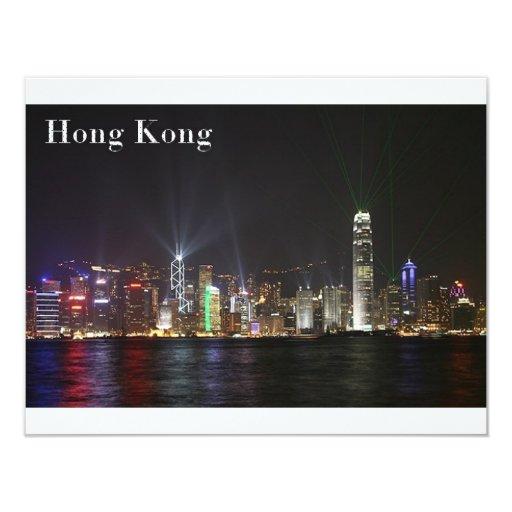 """Hong Kong (St.K) Invitación 4.25"""" X 5.5"""""""