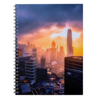 Hong Kong Sunset Skyline Notebook