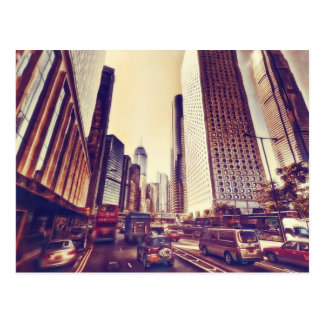 Hong Kong Traffic by Shawna Mac Postcard